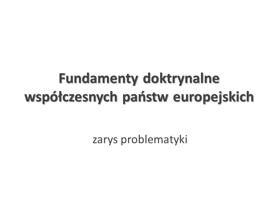 Fundamenty doktrynalne współczesnych państw europejskich zarys problematyki