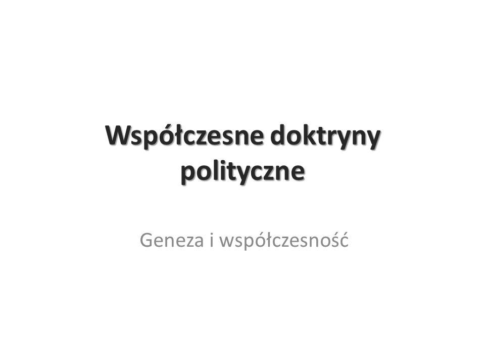 Współczesne doktryny polityczne Geneza i współczesność