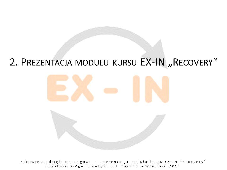 Zdrowienie dzięki treningowi - Prezentacja modułu kursu EX-IN Recovery Burkhard Bröge (Pinel gGmbH Berlin) - Wrocław 2012 2.