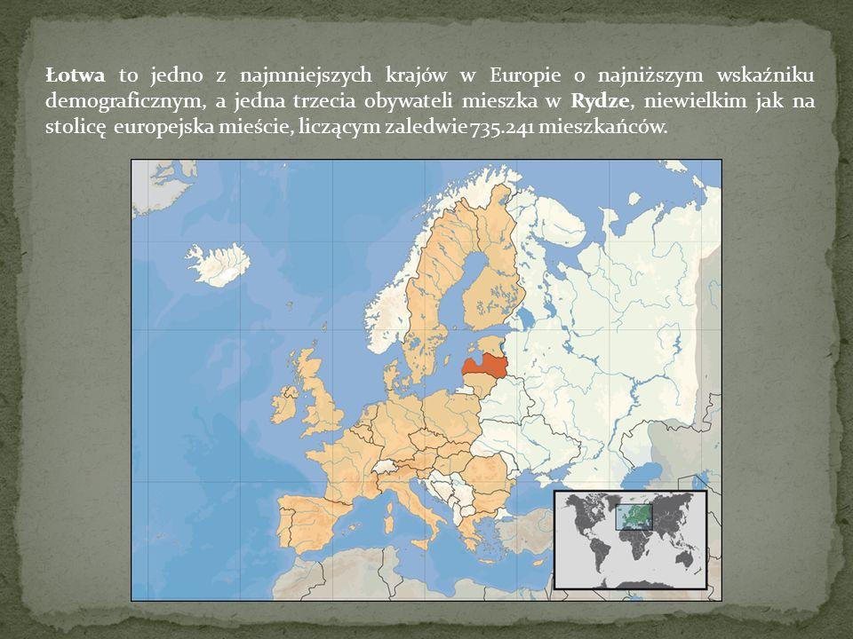 Łotwa to jedno z najmniejszych krajów w Europie o najniższym wskaźniku demograficznym, a jedna trzecia obywateli mieszka w Rydze, niewielkim jak na st