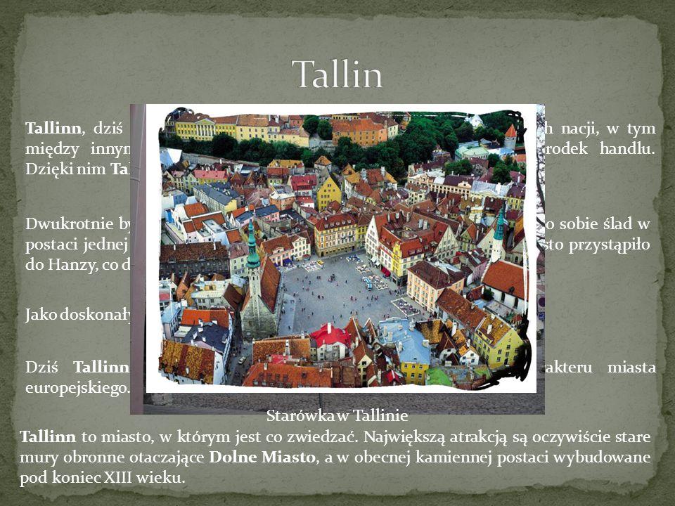 Tallinn, dziś miasto estońskie przez wieki odczuwało wpływy innych nacji, w tym między innymi Finów, którzy upodobali sobie to miejsce na ośrodek hand