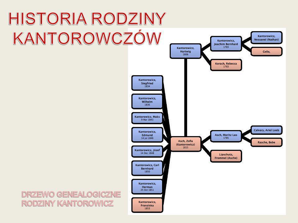 Hartwig Kantorowicz ożenił sie z Zofią Asch, data zawarcia związku małżeńskiego nie jest znana gdyż nie zachowały sie akta spisu ludności żydowskiej w Poznaniu.