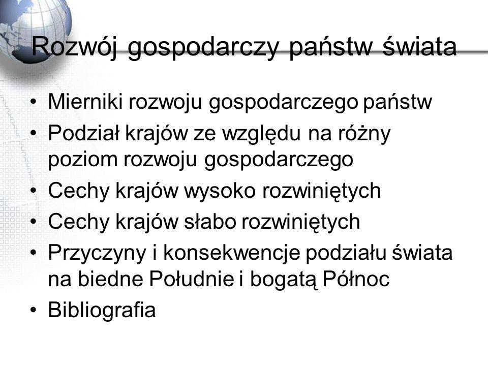 Dostęp ludności do wody pitnej Źródło: Skrzypczak W.: Geografia społeczno-ekonomiczna świata i Polski, Wyd.