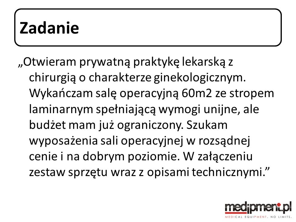 Specyfikacja wyposażenia :