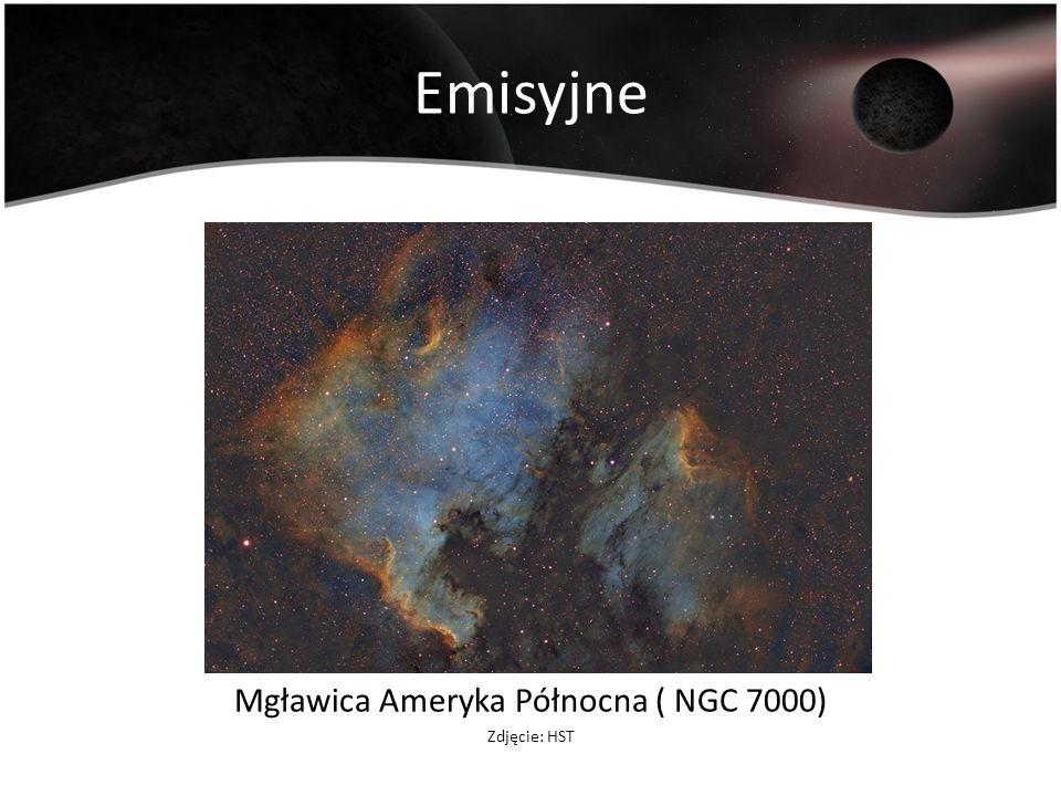 Emisyjne Mgławica Ameryka Północna ( NGC 7000) Zdjęcie: HST