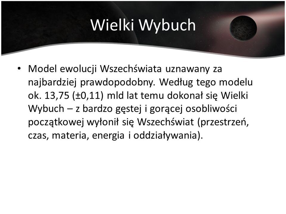 Potwierdzenie teorii Prawo Hubble a Odkrycie mikrofalowego promieniowania tła Obserwacje oraz pomiary satelity COBE, WMAP