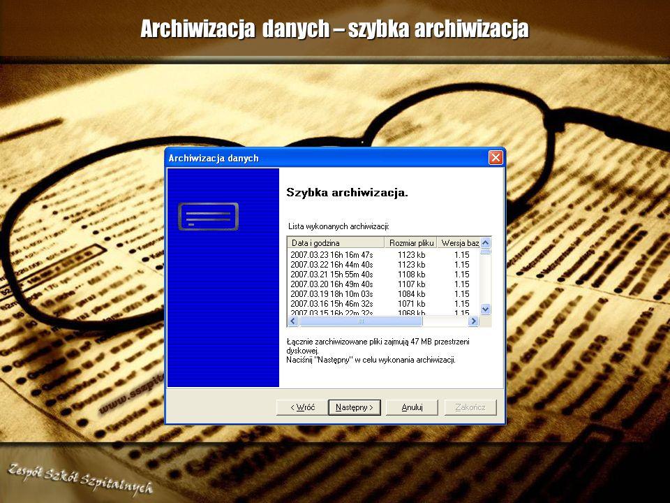 Archiwizacja danych – sposób archiwizowania bazy