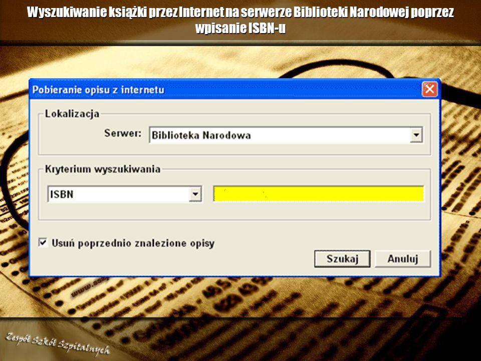 Tworzenie opisu bibliograficznego wydawnictwa zwartego oraz wpisu do księgi inwentarzowej w MOL-u Opis bibliograficzny w MOL-u można utworzyć na dwa s