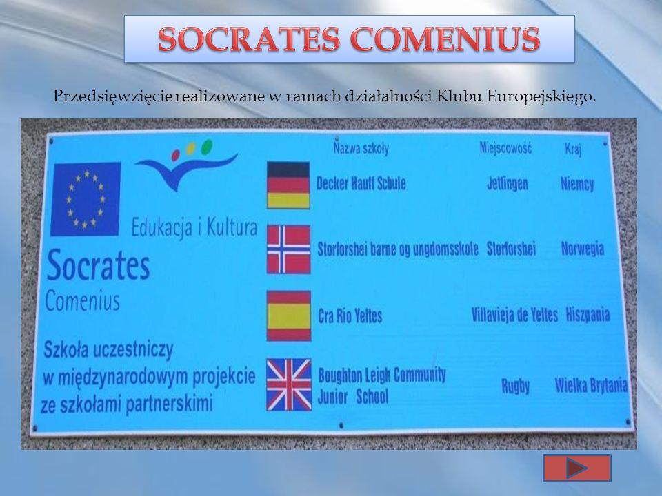 Przedsięwzięcie realizowane w ramach działalności Klubu Europejskiego.