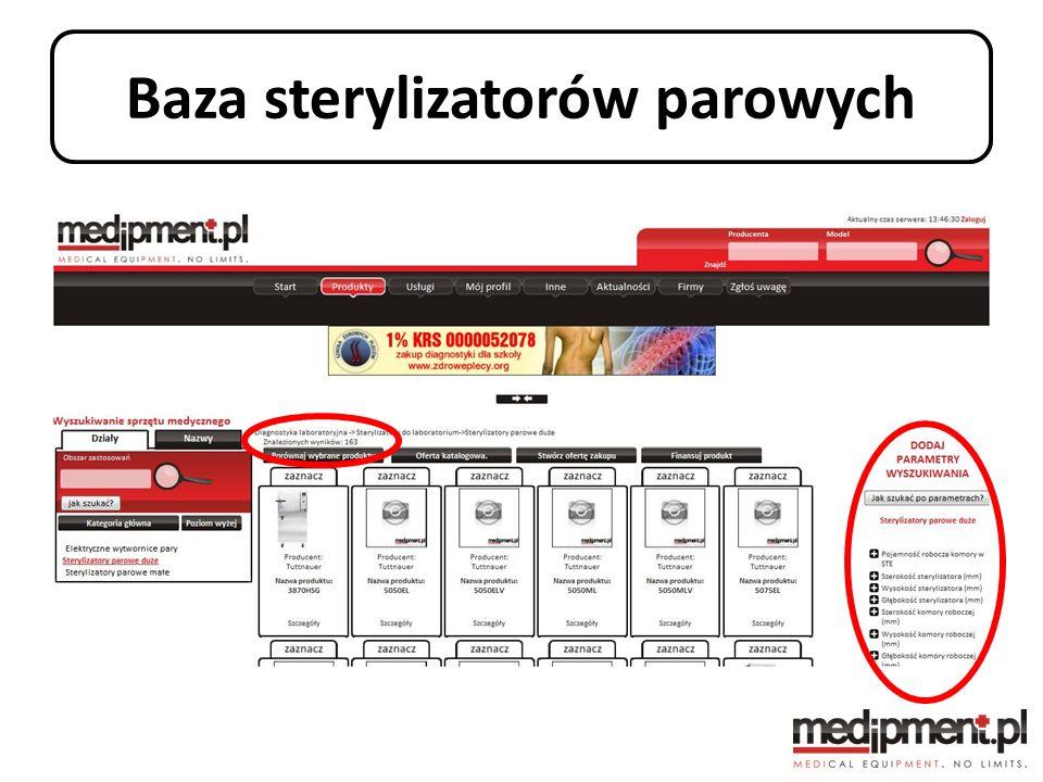 Baza sterylizatorów parowych