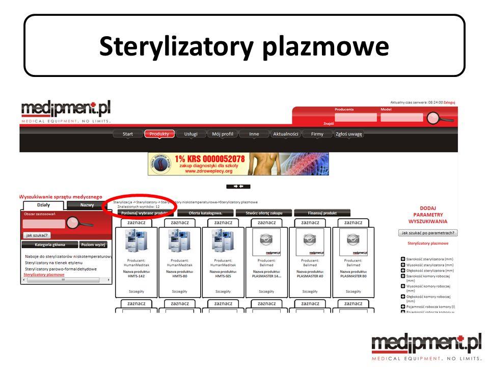 Sterylizatory plazmowe