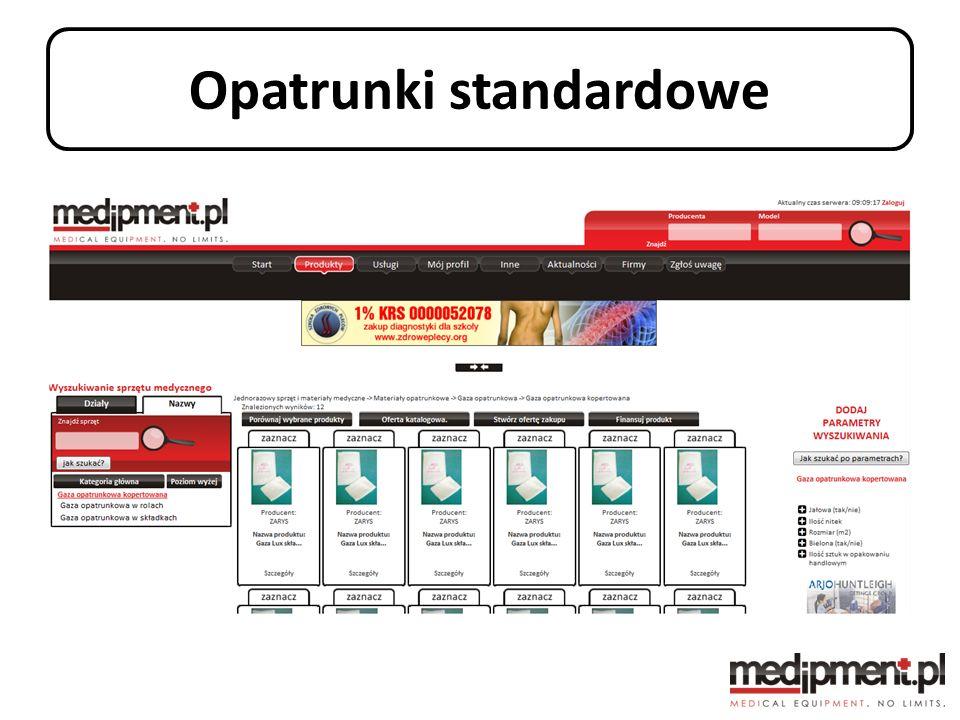 Opatrunki standardowe