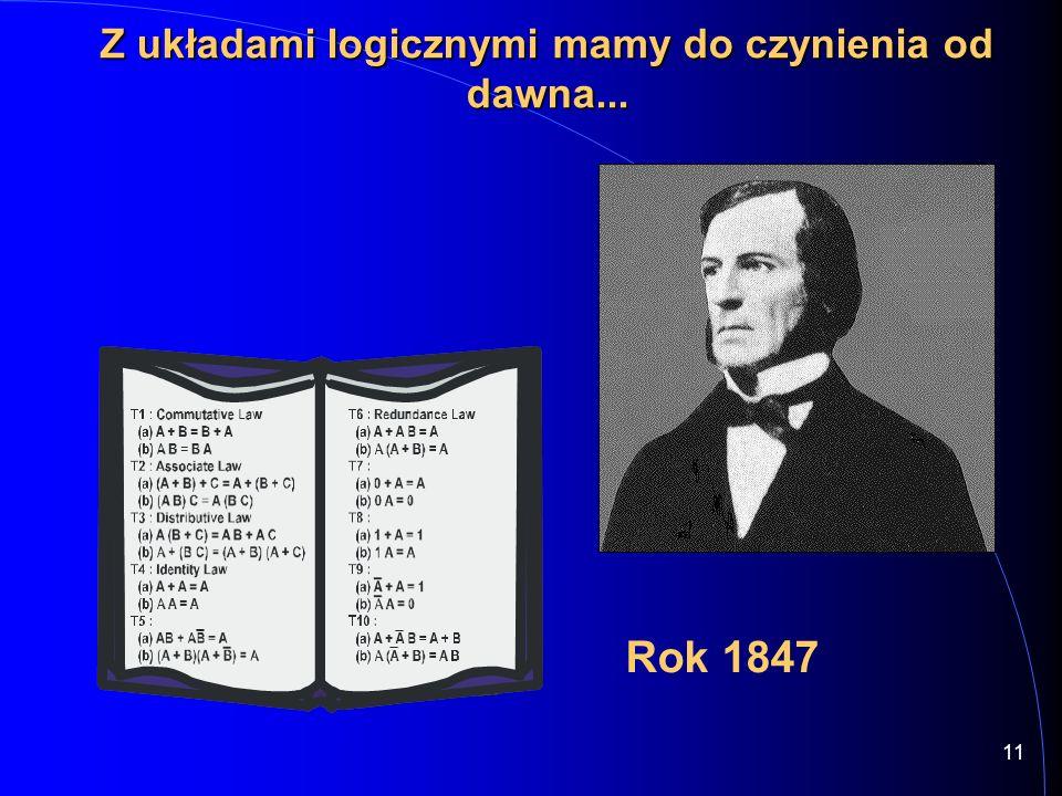 11 Rok 1847 Z układami logicznymi mamy do czynienia od dawna...