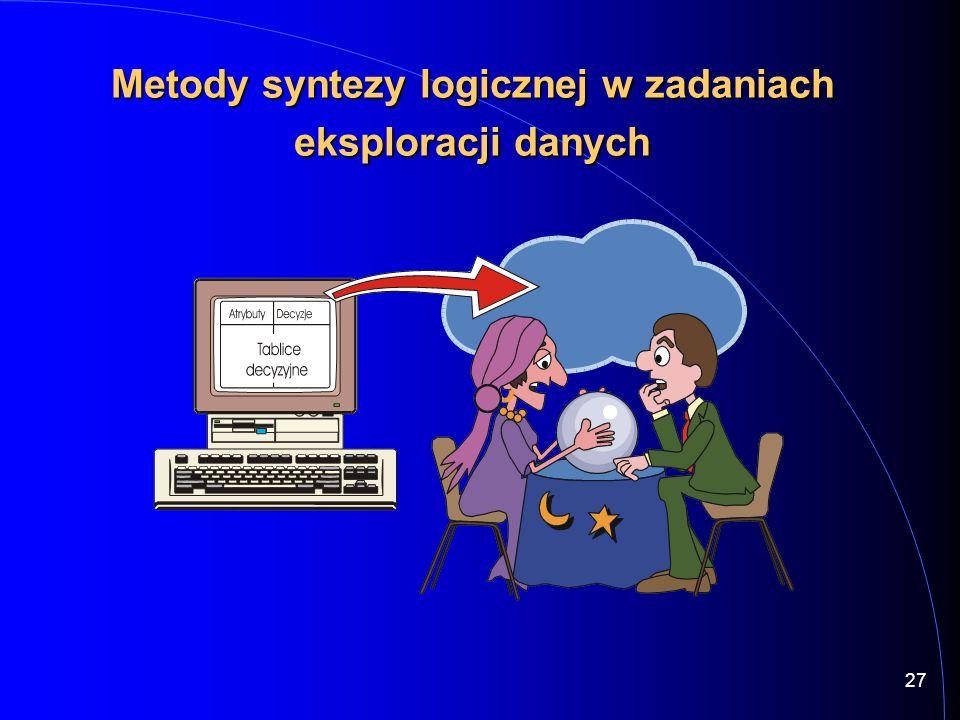 27 Metody syntezy logicznej w zadaniach eksploracji danych