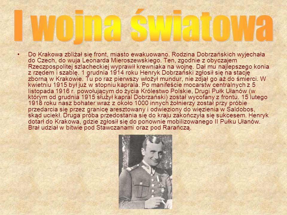Henryk Feliks Józef Dobrzański urodził się 22 czerwca 1896 w Jaśle, w szlacheckiej rodzinie herbu Leliwa. Syn Henryka Dobrzańskiego i Marii z Lubiniec