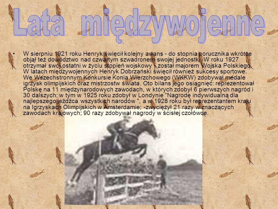 W 1920 Dobrzański, już w stopniu podporucznika, mianowany został adiutantem II Pułku Szwoleżerów, a za bohaterstwo w bitwach pod Lwowem i pod Borowem