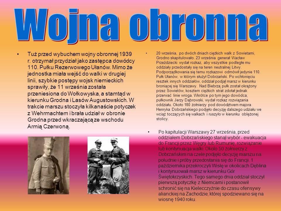 Tuż przed wybuchem wojny obronnej 1939 r.otrzymał przydział jako zastępca dowódcy 110.