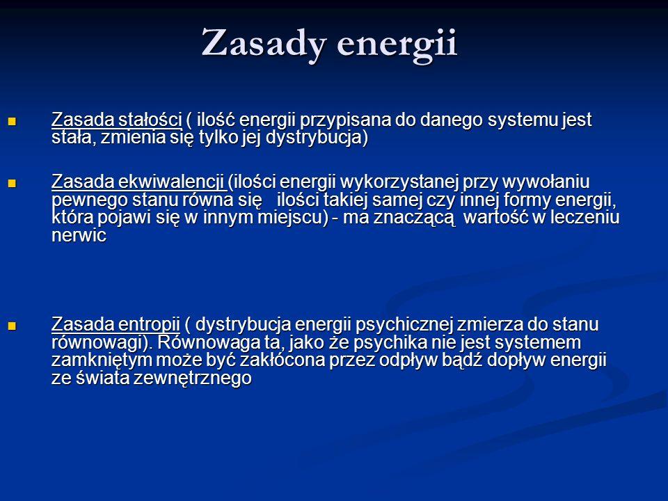 Zasady energii Zasada stałości ( ilość energii przypisana do danego systemu jest stała, zmienia się tylko jej dystrybucja) Zasada stałości ( ilość ene