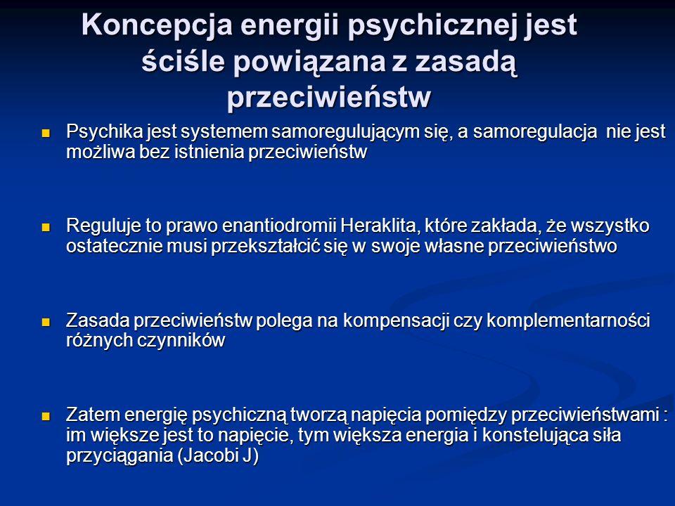 Koncepcja energii psychicznej jest ściśle powiązana z zasadą przeciwieństw Psychika jest systemem samoregulującym się, a samoregulacja nie jest możliw