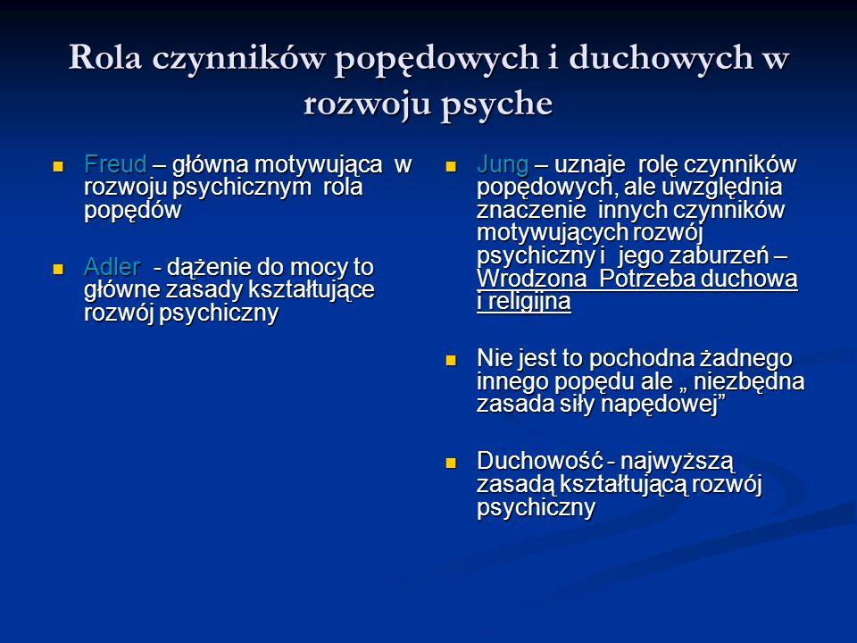Rola czynników popędowych i duchowych w rozwoju psyche Freud – główna motywująca w rozwoju psychicznym rola popędów Freud – główna motywująca w rozwoj