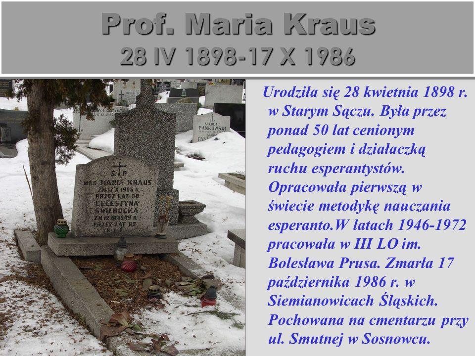Urodziła się 28 kwietnia 1898 r.w Starym Sączu.