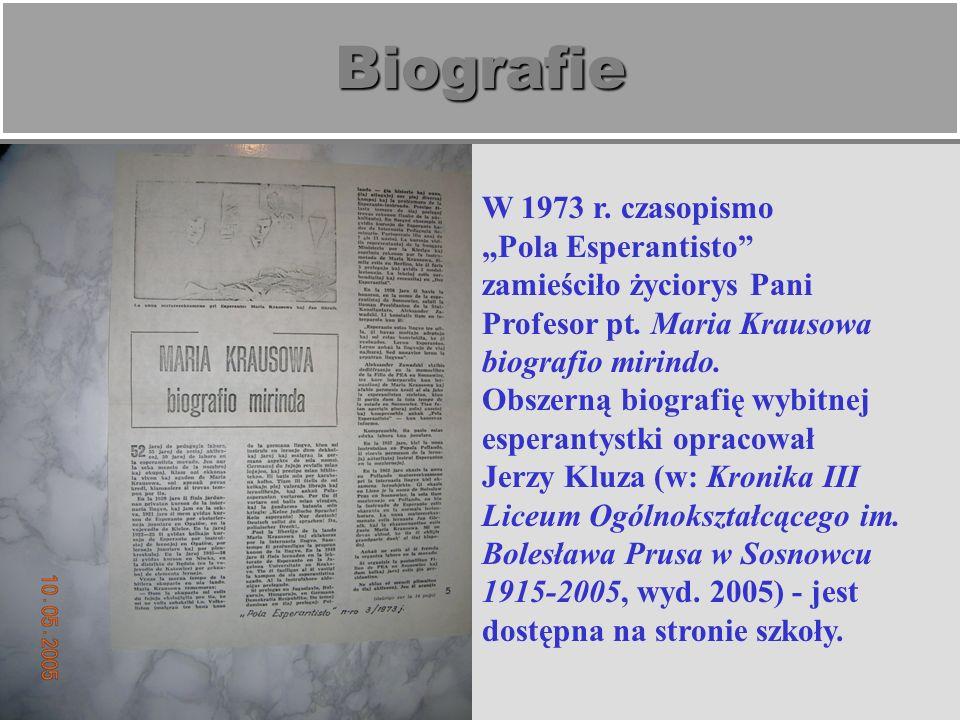 Matura z esperanto W 1962 r.prof.