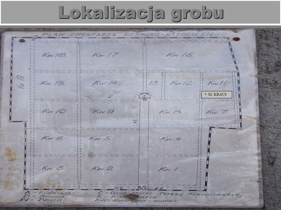 Opis grobu Skromny grób ziemny w kwaterze 11 z krótką inskrypcją na steli, obmurowany.