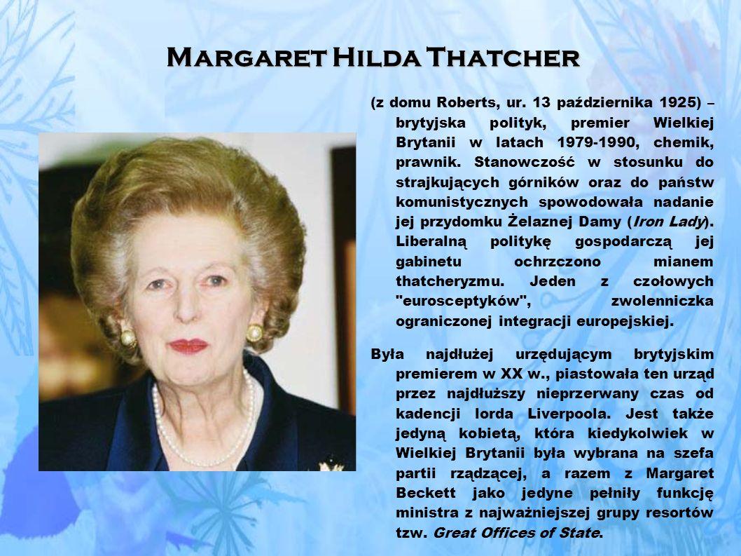 Margaret Hilda Thatcher (z domu Roberts, ur.