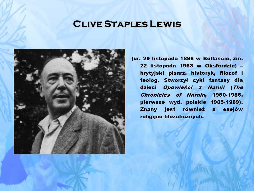 Clive Staples Lewis (ur.29 listopada 1898 w Belfaście, zm.