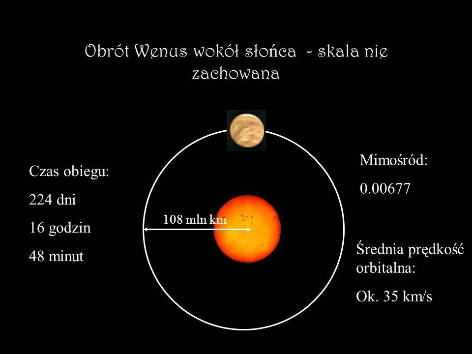 Wenus Bli ź niaczk ą Ziemi Rozmiary: Średnica: 12 104 km12 756 km Masa: 4,87*10 24 kg5,97*10 24 kg Gęstość: 5,24 g/cm 3 5,5 g/cm 3