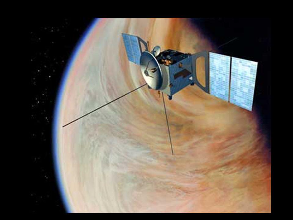 Venus-Express wystrzelony 9.11.05 ( po lewej wizja artystyczna).