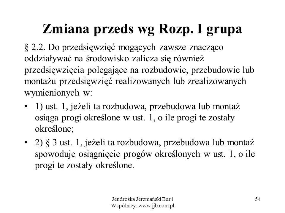 Zmiana przeds wg Rozp.I grupa § 2.2.