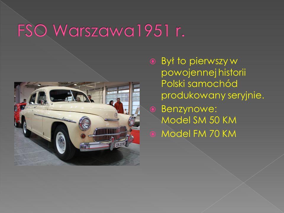 Był to pierwszy w powojennej historii Polski samochód produkowany seryjnie. Benzynowe: Model SM 50 KM Model FM 70 KM
