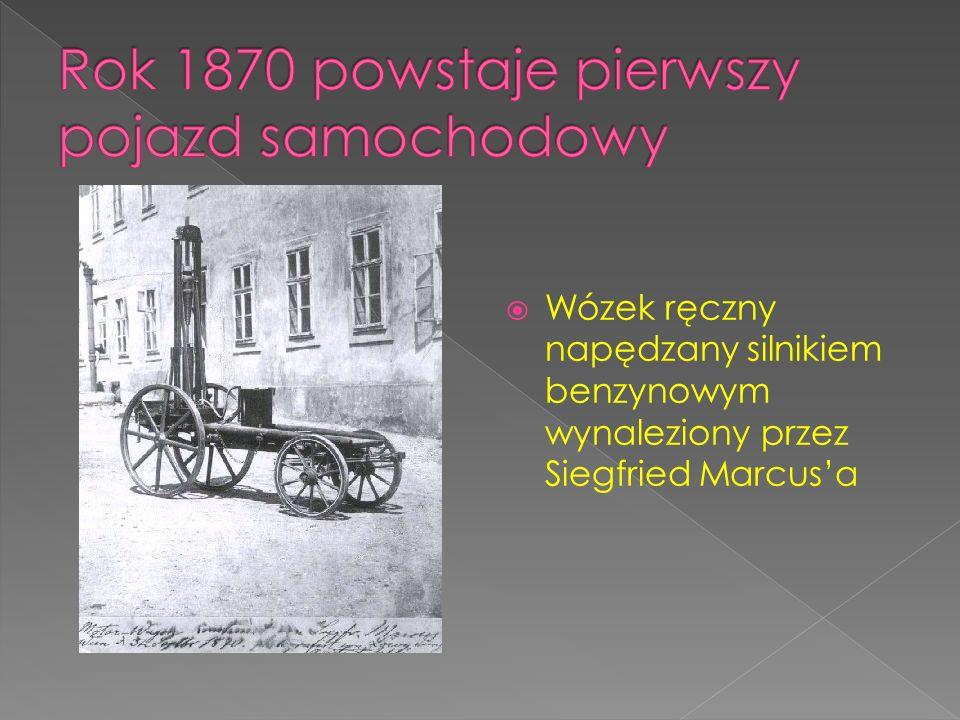 Wózek ręczny napędzany silnikiem benzynowym wynaleziony przez Siegfried Marcusa
