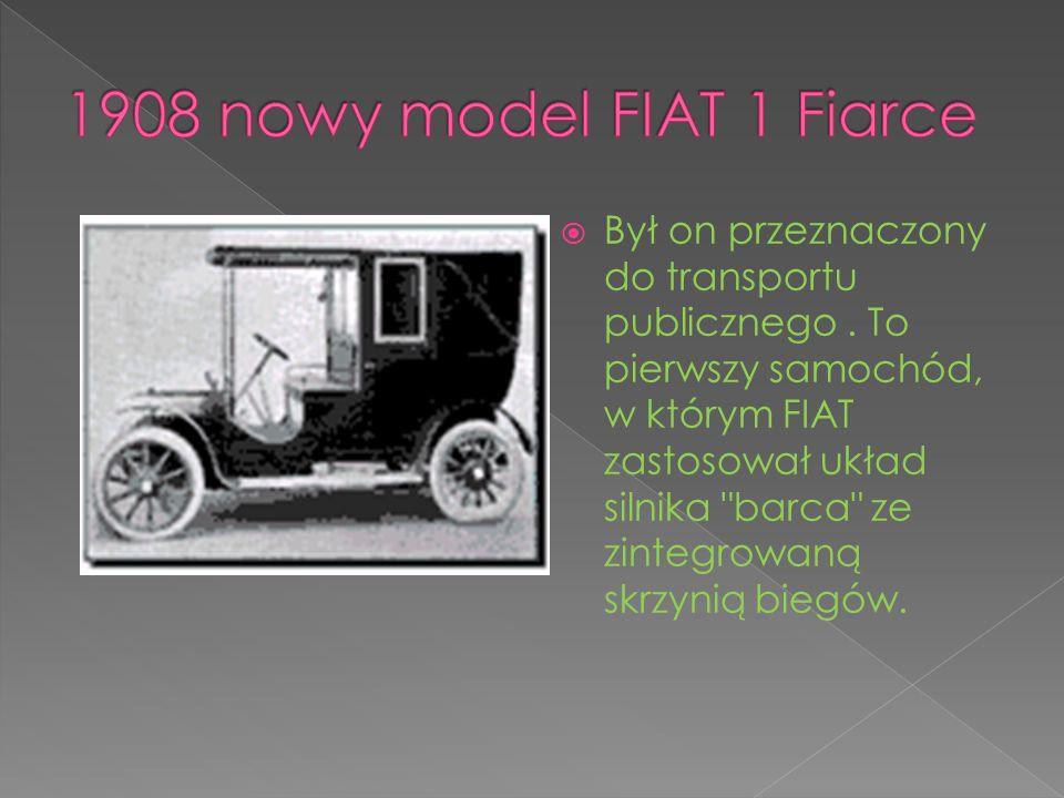 Był on przeznaczony do transportu publicznego. To pierwszy samochód, w którym FIAT zastosował układ silnika