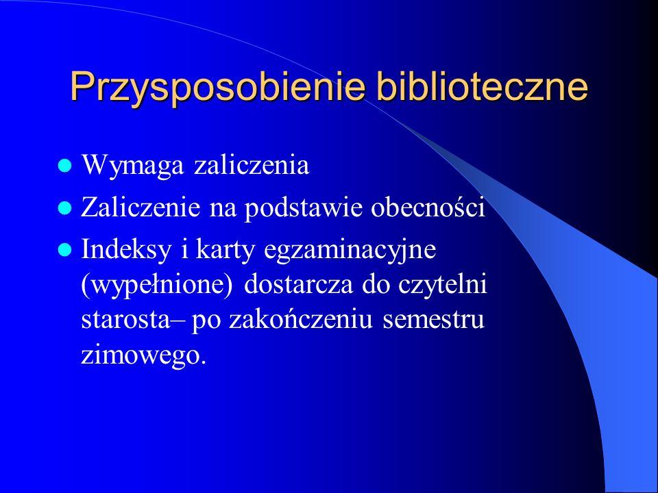 Dla studentów I roku Wydzia ł u Matematyczno- Fizycznego Szkolenie biblioteczne