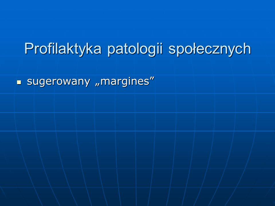 Profilaktyka patologii społecznych sugerowany margines sugerowany margines