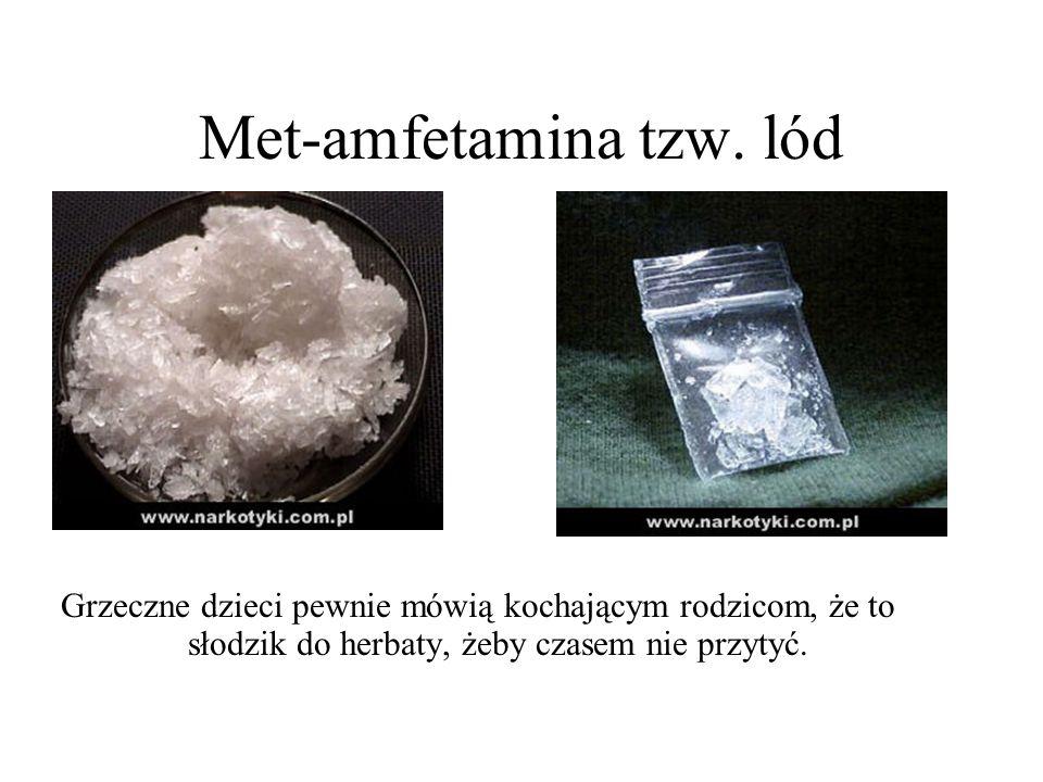 Met-amfetamina tzw. lód Grzeczne dzieci pewnie mówią kochającym rodzicom, że to słodzik do herbaty, żeby czasem nie przytyć.