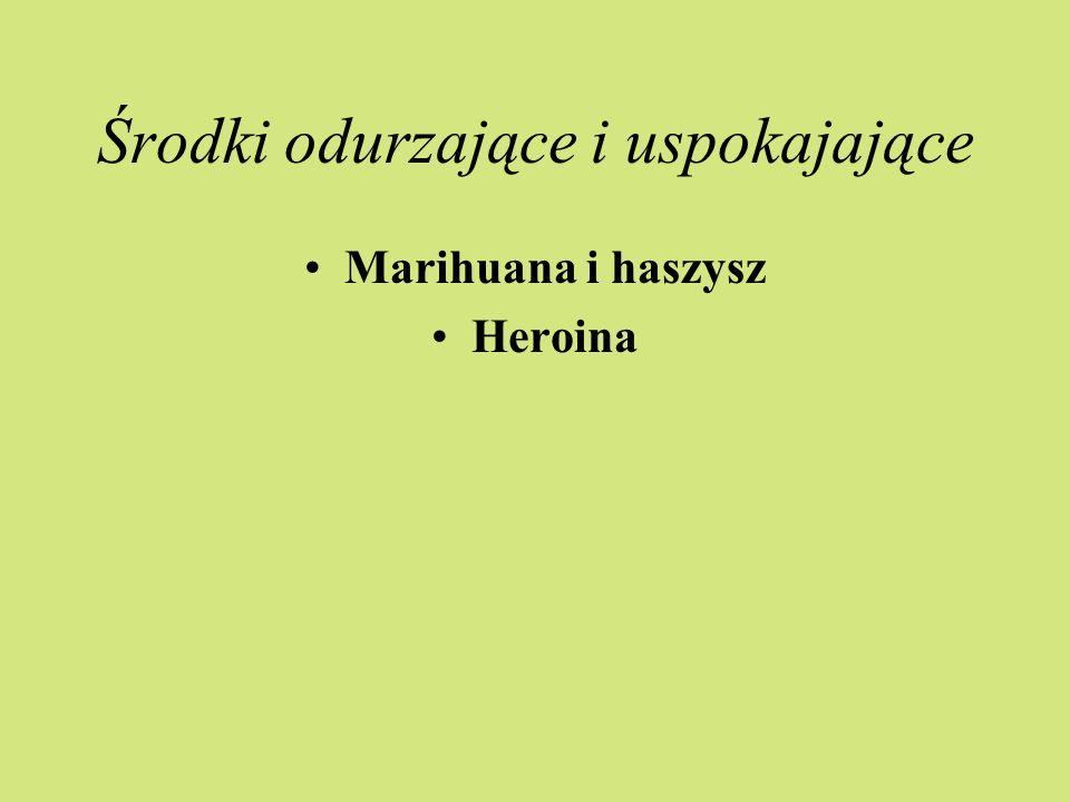 Środki odurzające i uspokajające Marihuana i haszysz Heroina
