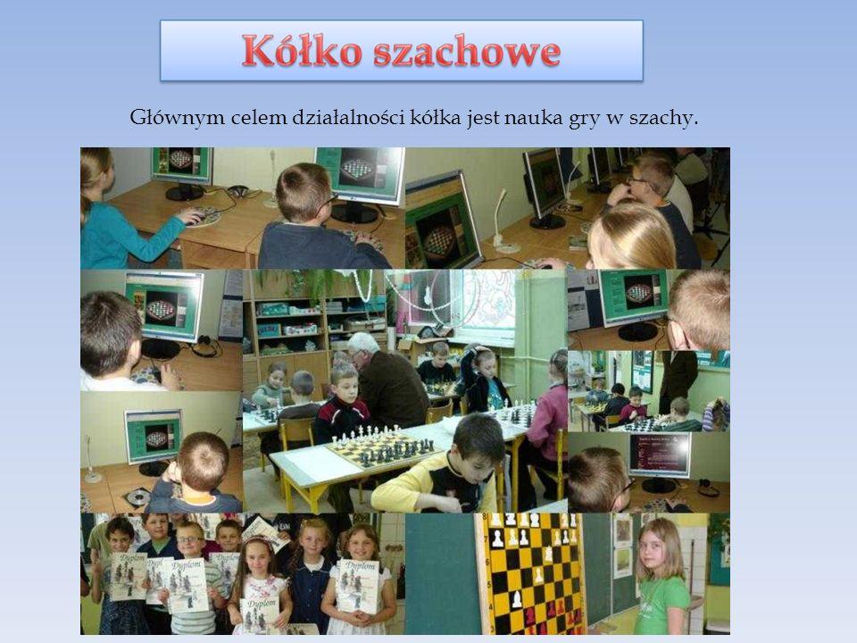 Głównym celem działalności kółka jest nauka gry w szachy.