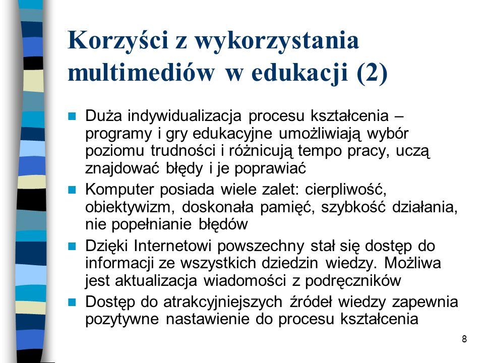 18 Bibliografia MorbitzerJ.: Internet a kształcenie ku mądrości.