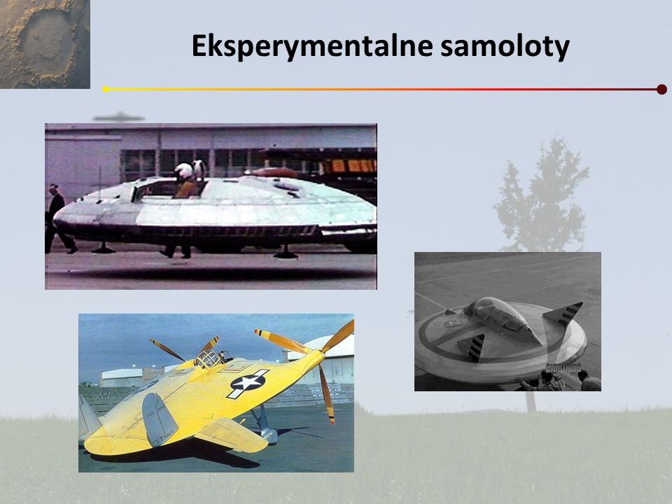 Eksperymentalne samoloty