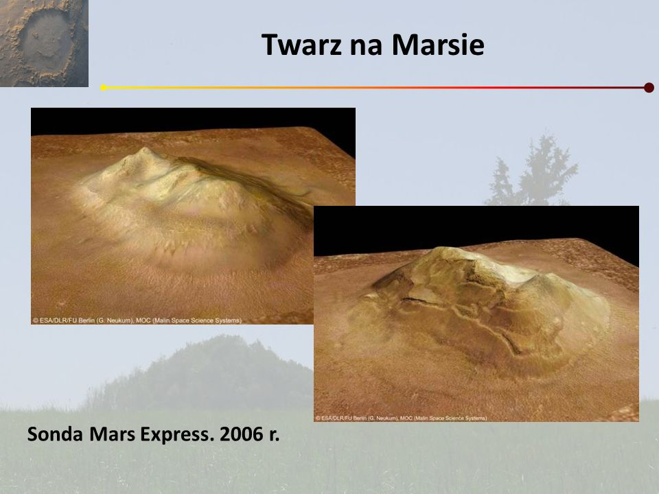 Twarz na Marsie Sonda Mars Express. 2006 r.