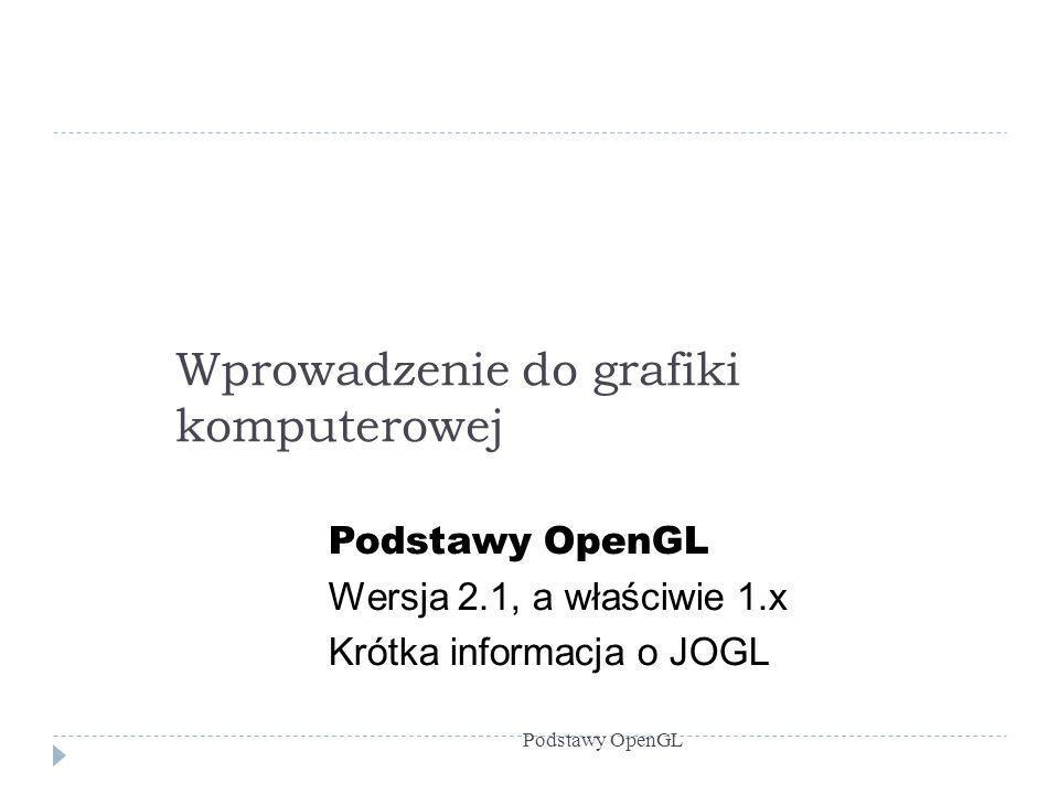 Z czego składa się OpenGL.