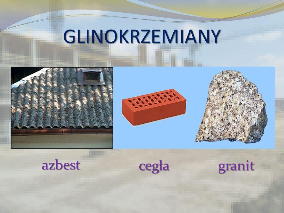 GLINOKRZEMIANY azbest cegłagranit