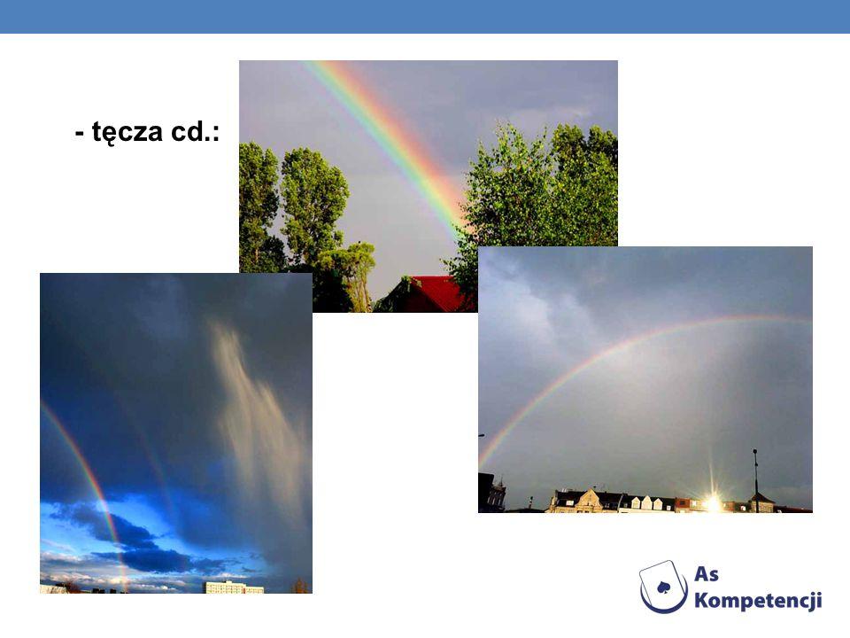 - tęcza cd.: