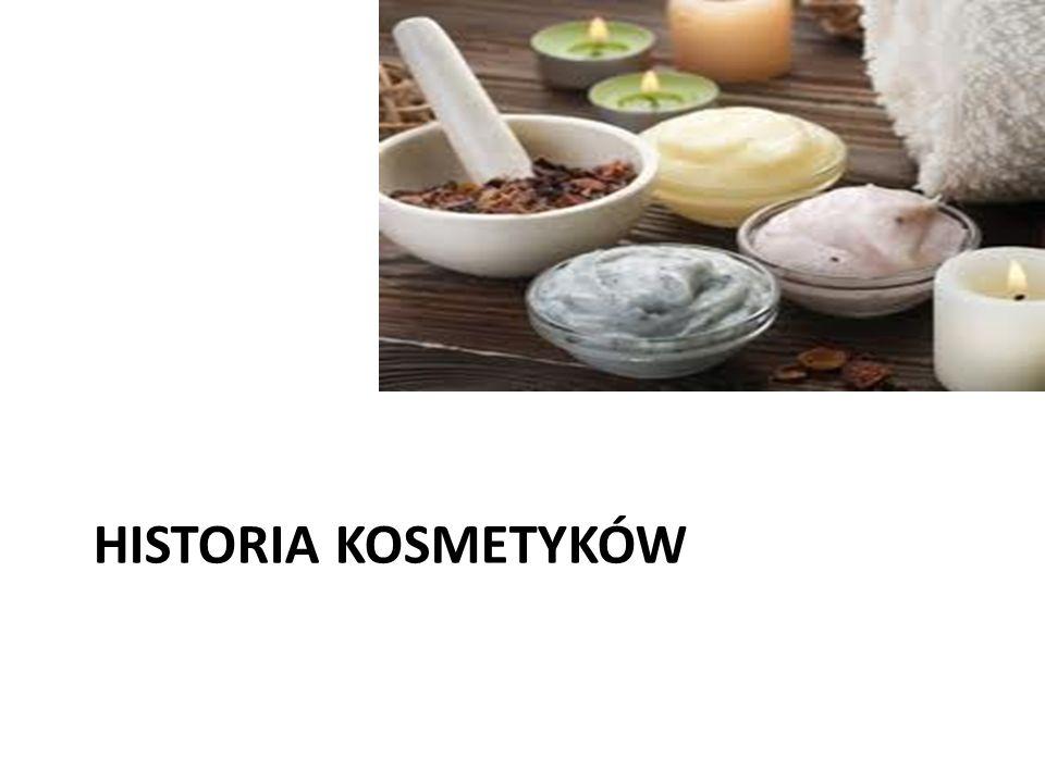 HISTORIA KOSMETYKÓW