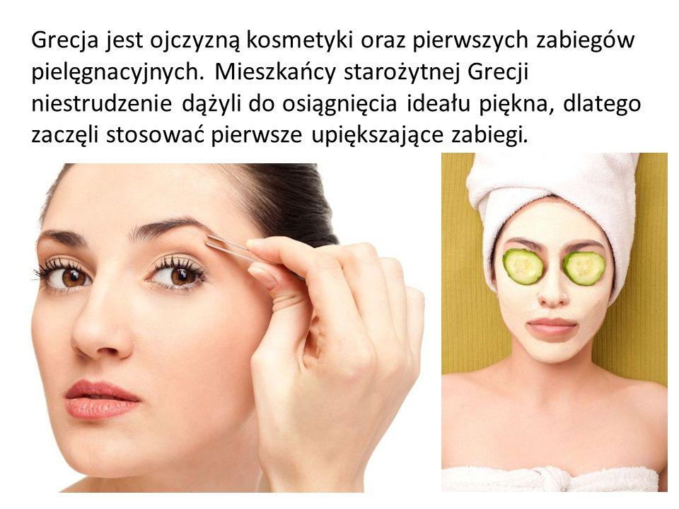 Grecja jest ojczyzną kosmetyki oraz pierwszych zabiegów pielęgnacyjnych. Mieszkańcy starożytnej Grecji niestrudzenie dążyli do osiągnięcia ideału pięk