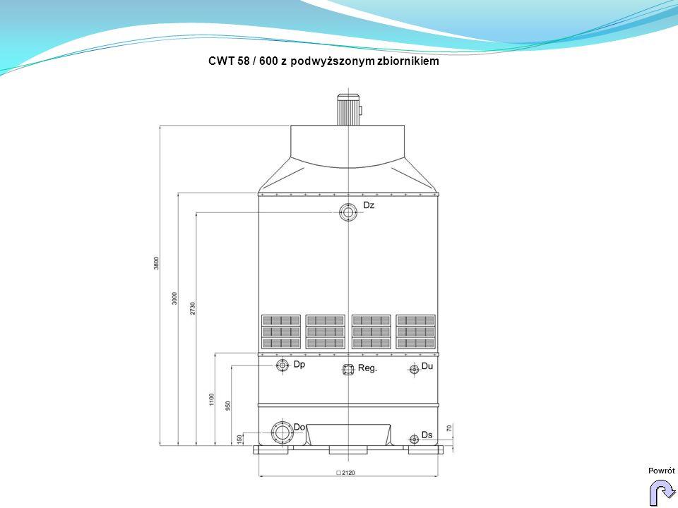 CWT 58 / 600 z podwyższonym zbiornikiem Powrót