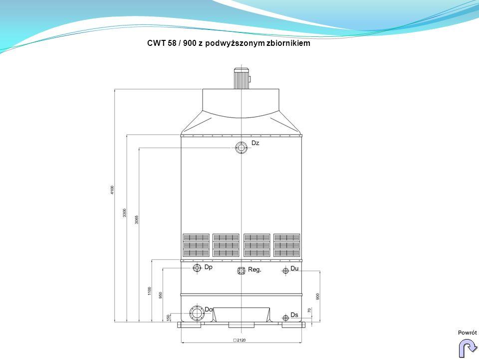 CWT 58 / 900 z podwyższonym zbiornikiem Powrót